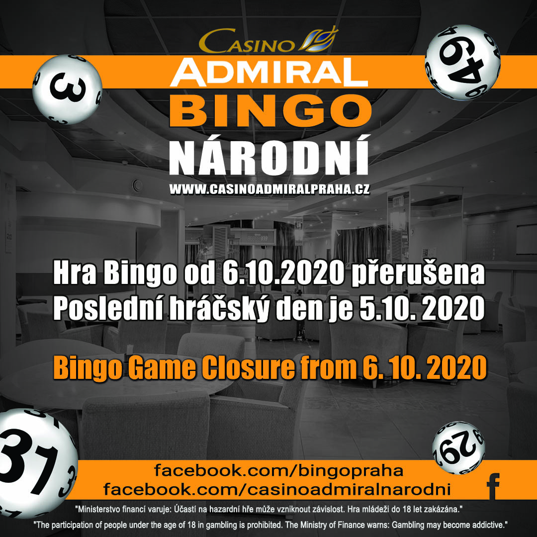 Admiral Bingo Closed 2020