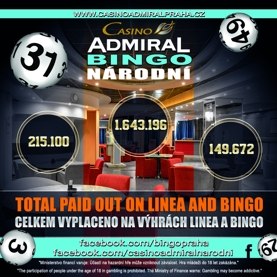 Admiral Bingo Total Wins Oct