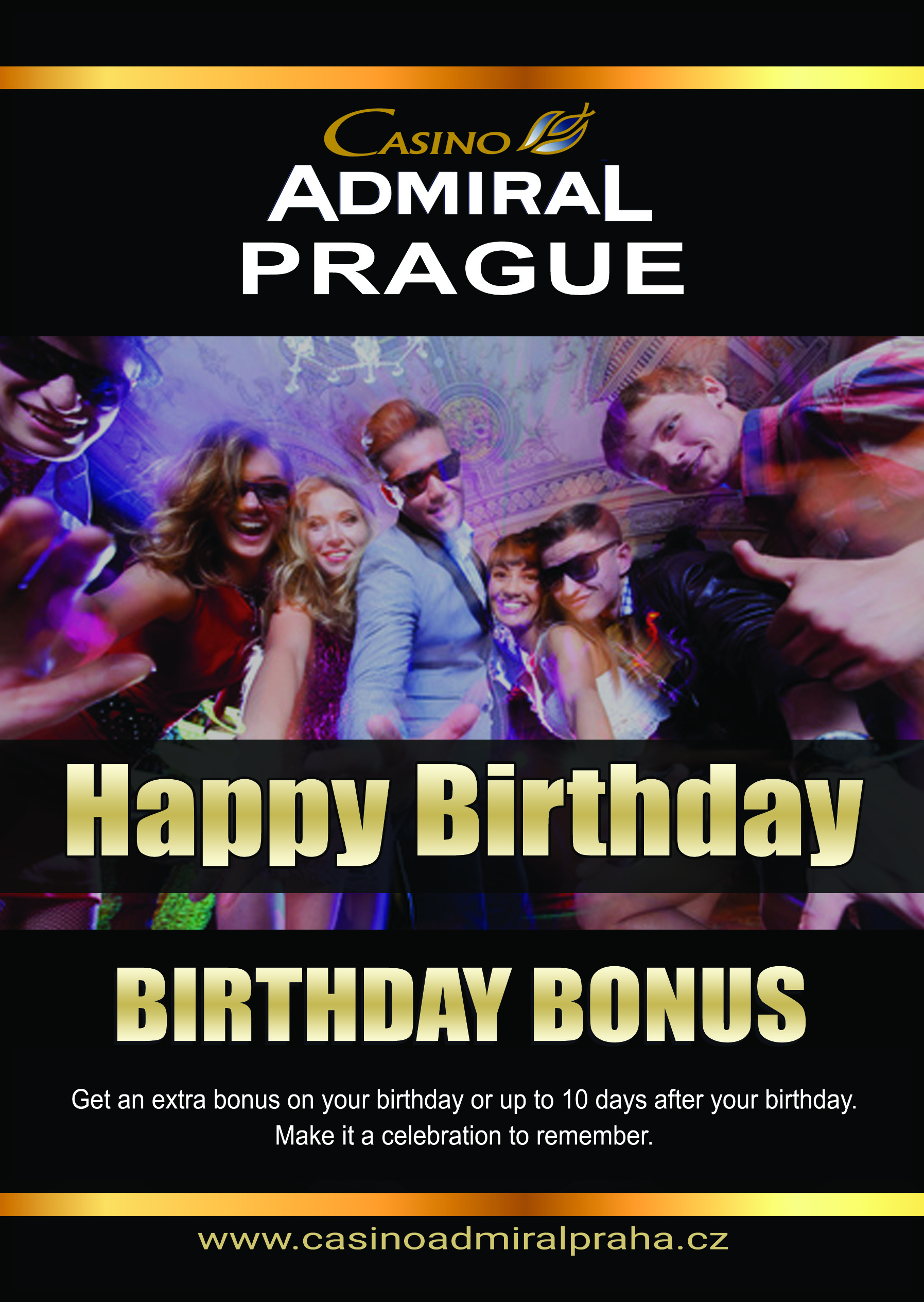 HappyBirthday Casino Admiral Prague